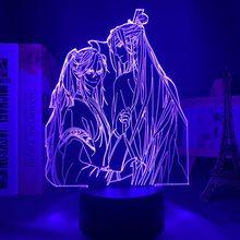 Acrílico 3d luz bl mo dao zu shi lâmpada para quarto de cama decoração sensor toque colorido led night light lâmpada mo dao zu shi lan zhan