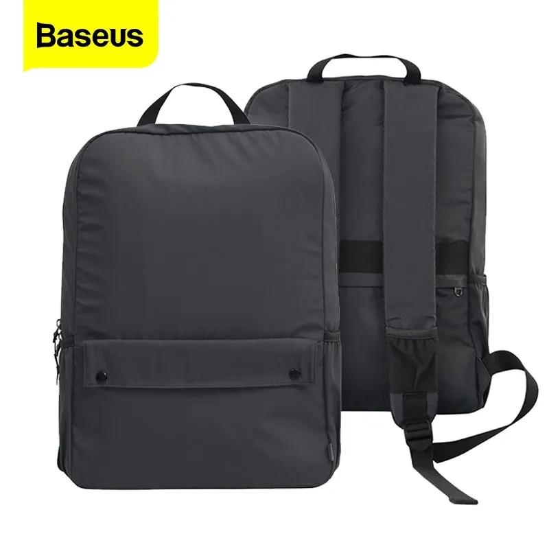 Baseus Waterproof Laptop Bag for MackBook Air 20L Solid Color Laptop Backpack School Bag 13