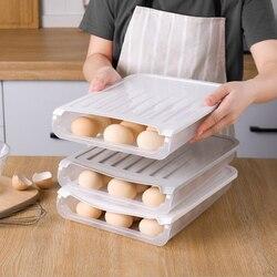 Jajko plastikowe uchwyt do przechowywania do oszczędzenia miejsca Auto przewijanie stojak do przechowywania jaj chłodziarka do przechowywania żywności organizator pojemnik wysokiej jakości