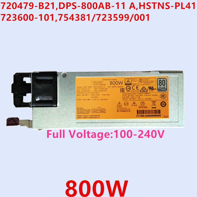 HP 800W 80+Platinum Efficiency Power Supply723600-101 DPS-800AB-11 A
