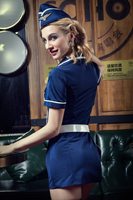 Hotsale Sexy Costume Babydoll Erotic Lingerie Underwear Lenceria Lingerie Set Cosplay Air Hostess Airline Stewardess Uniform