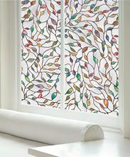 Funlife Decor Window Privacy Film Stained Glass No Glue Anti-UV Removable Cling Self-adhesive Sticker
