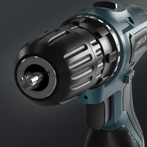 Image 5 - LOMVUM elektrikli matkap şarj edilebilir elektrikli tornavida çok fonksiyonlu elektrikli el aletleri Mini akülü matkap