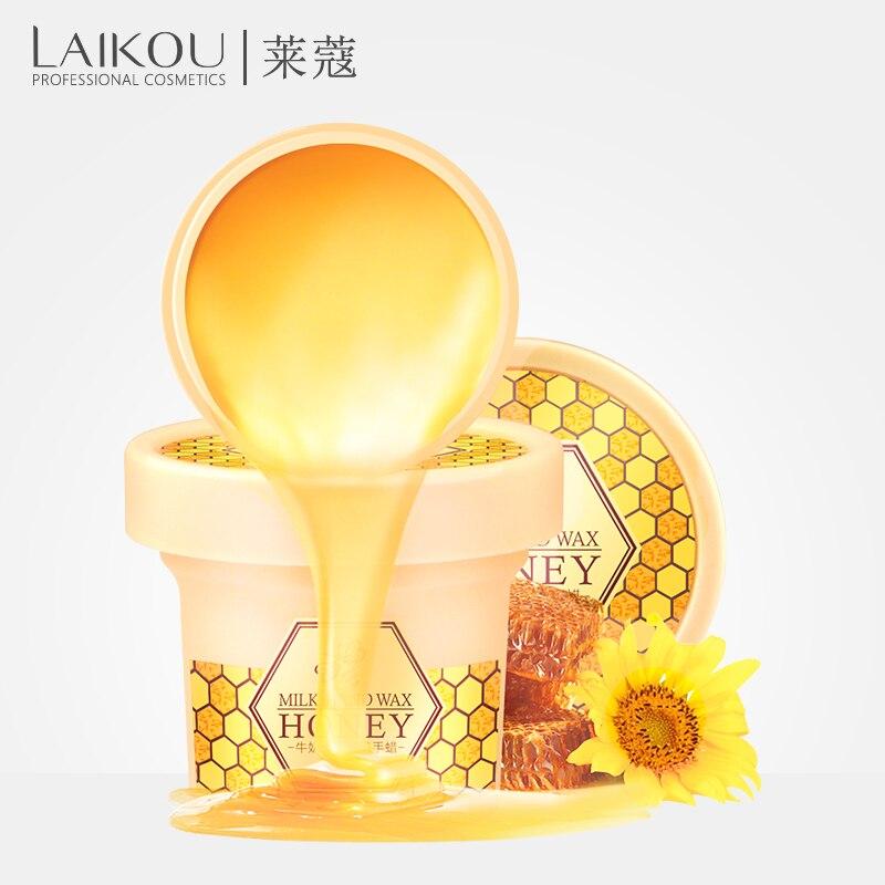 LAIKOU Milk Honey Cream Hand Wax Exfoliating Hand Cream Moisturizing Whitening Exfoliating Hand Care Skin Care 120g