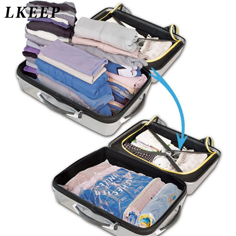 Hand Rolling Type Vacuum Compressed Bags Storage Travel Accessories Space Saving Bags Clothing Seal Compressed Organizer