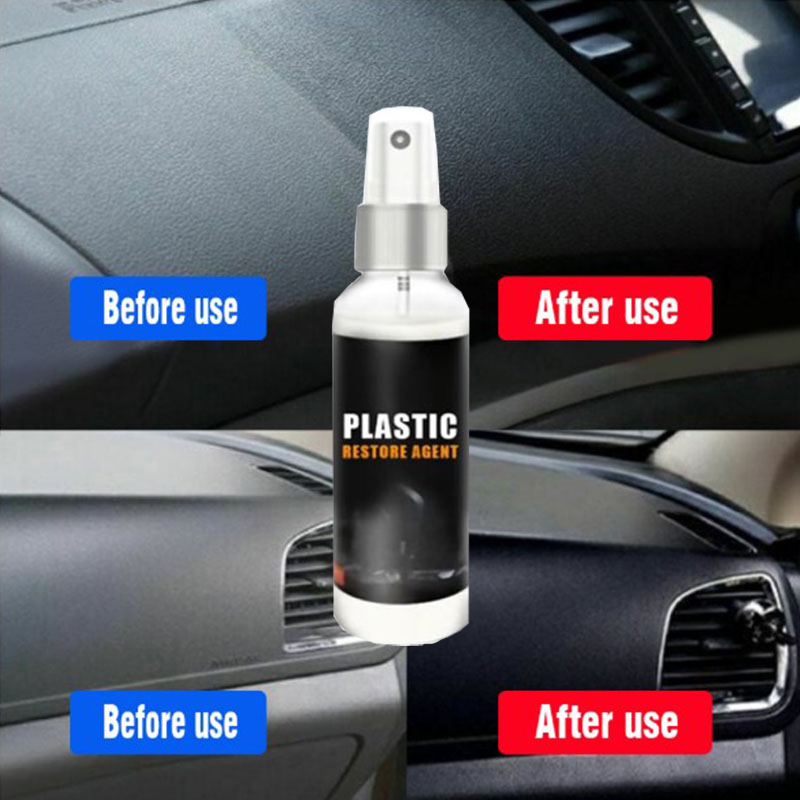 30ml Plastic Parts Refurbishment Agent Automotive Interior Plastic Parts Refurbishment Paint Paste Maintenance Car Cleaner
