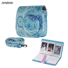 Andoer حقيبة كاميرا PU ل Fujifilm Instax Mini 8 Mini 9 Instax حقيبة كاميرا 96 جيوب ألبوم صور عالية الجودة دائم حقيبة كاميرا