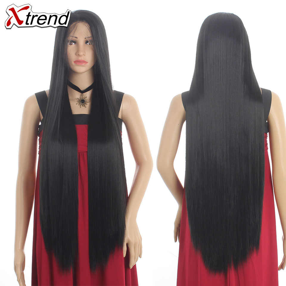 Xtrend Wigs For Black Women Long Straight Synthetic Lace Front Wig Blonde Black Red Cosplay 613 Grey Copper Green