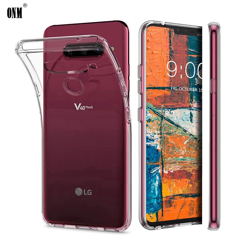 Case For LG V40 Thinq / V35 Thinq TPU Silicon Durable Clear Fitted Bumper Soft Case For LG V10 V20 V30 Transparent Back Cover
