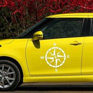 Image 4 - CK20331 # Sterben Cut Vinyl Aufkleber Wind Rose Auto Aufkleber Wasserdicht Auto Dekore auf Auto Körper Stoßstange Hinten Fenster