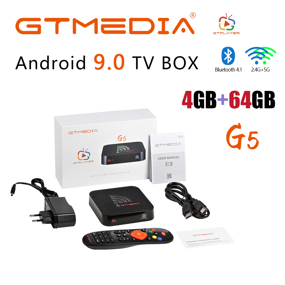 G5 Android 9.0 Smart Tv Box 2.4G Wifi Quad Core 4K 1080P Full HD Netflix Media Player Amlogic S905X2 4GB +64GB ROM Set-Top Box