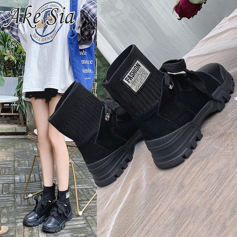 2019 autumn winter new Martin boots women's fashion wild short boots women's shoes casual boots children's shoes tide