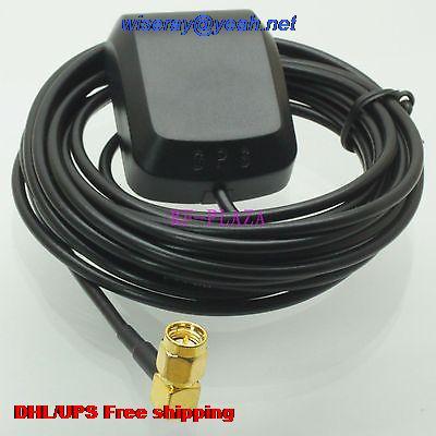 Tüketici Elektroniği'ten Pil Aksesuarları ve Şarj Aksesuarları'de DHL/EMS 50 adet GPS Anten SMA Erkek dik açı 3M GPS Anteni Araba DVD Navigasyon Süper sinyal anten GPS A1 title=
