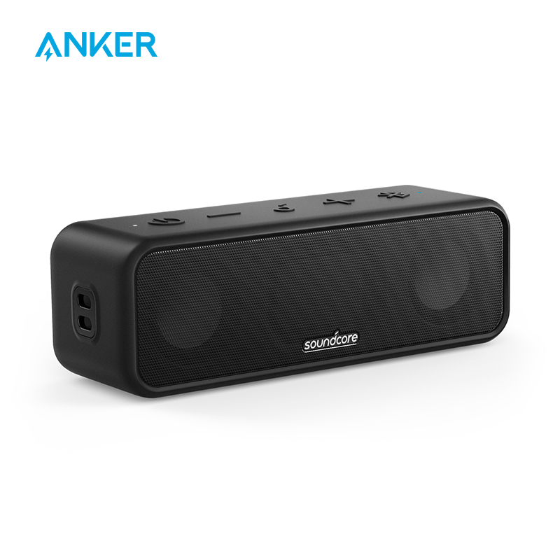 Soundcore 3 Bluetooth Speaker with Stereo Sound Pure Titanium Diaphragm Drivers PartyCast Technology BassUp 24H Playtime