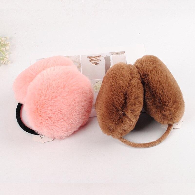 Winter Warm Men And Women Korean-style Rex Rabbit Plush Earmuff