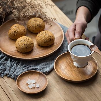 Okrągła solidna taca drewniana zestawy zastawy stołowej ozdoba zestaw naczyń Sushi herbata owocowa taca talerze deserowe akacja drewniana kolacja śniadanie talerze tanie i dobre opinie CN (pochodzenie) Stałe ROUND Drewna Natural Wood Color hand polished Solid Wood Plates Dinner Plate Dessert Plate Sushi Plate