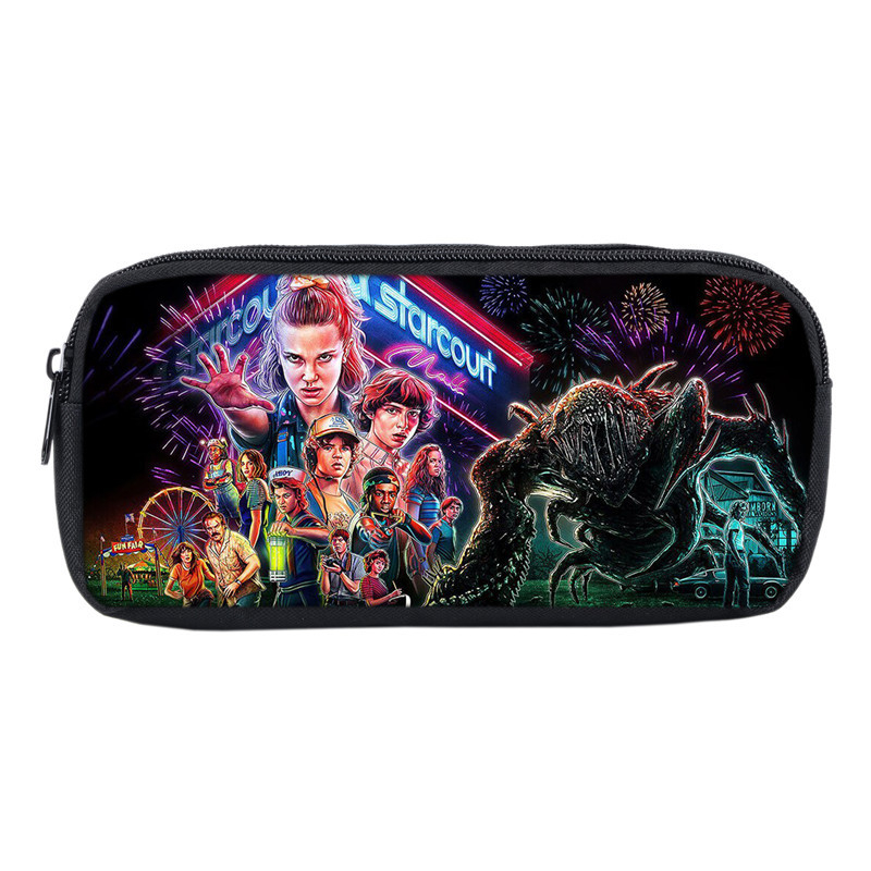 Mochila Stranger Things Pencil Case Storage Pouch Tassen Printed 3D Kids School Supplies Stationery Makeup Box Pen Bag