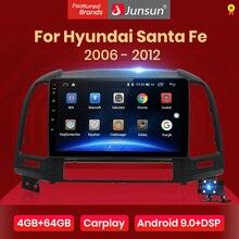 Junsun V1 pro 4G+64G CarPlay DSP Android 10 Car Radio Multimedia Stereo Audio Player GPS 2 Din For Hyundai Santa Fe 2 2006-2012