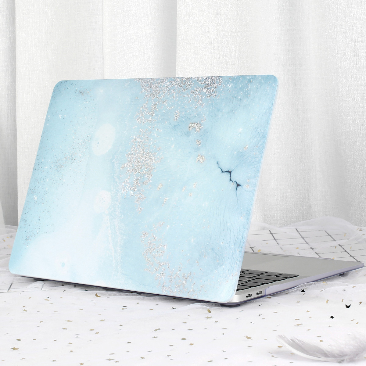 Marble Flower Pattern Case for MacBook 64