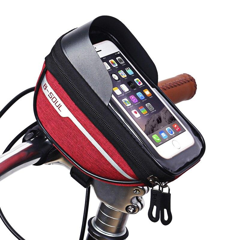 B SOUL велосипедный Руль 7 дюймов сотовый мобильный телефон сумка водонепроницаемый Сенсорный экран полиэстер Передняя сумка для велосипеда|Сумки и корзины для велосипеда|   | АлиЭкспресс