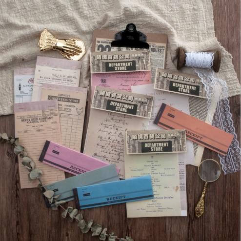 20 set/1 lot Sulfuric acid paper series Memo Pad Sticky Notes Escolar Papelaria School Supply Bookmark notepad Label