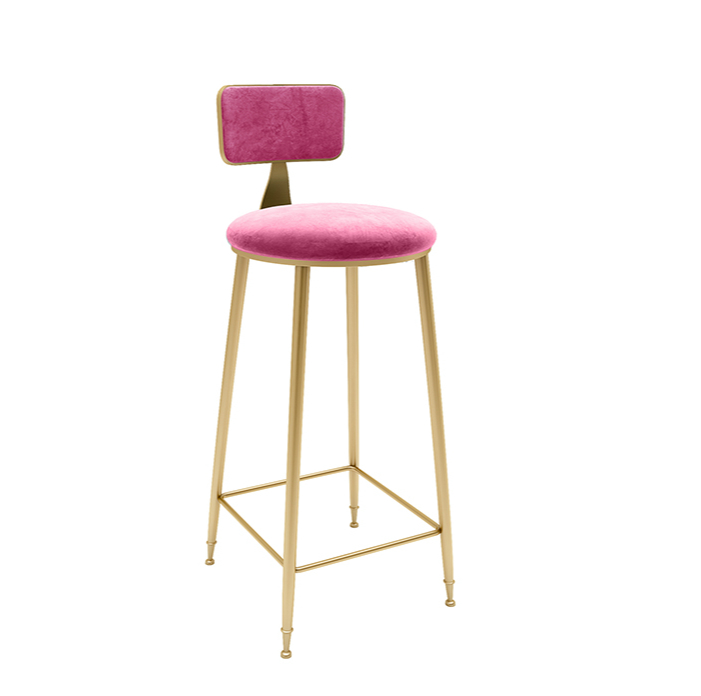 H1 Nordic Minimalist Bar Stool Leisure Bar Chair Wrought Iron Minimalist Modern Gold High Stool Modern Dining Chair Wire Chair