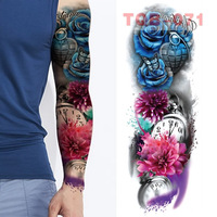 Large Arm Sleeves Lion Tiger Waterproof Temporary Tattoo Sticker Man Women  Fake Color Totem Tattoo Stickers Body Art Leg Arm