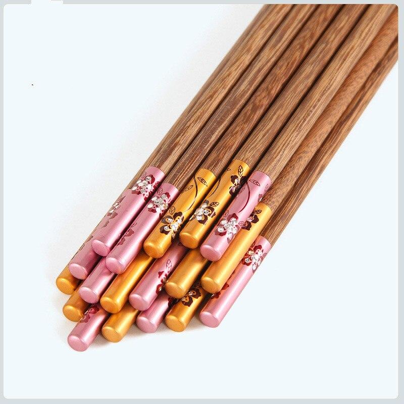 Купить 1 пара модных палочек для еды из сплава китайские палочки многоразовая