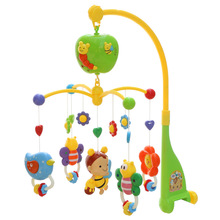 Baby Toy Musical For Bed Wind Bell 0-12 Months Plastic Rattles Mobility On The Bed Mordedor Educational Toys For Kids AA50YL