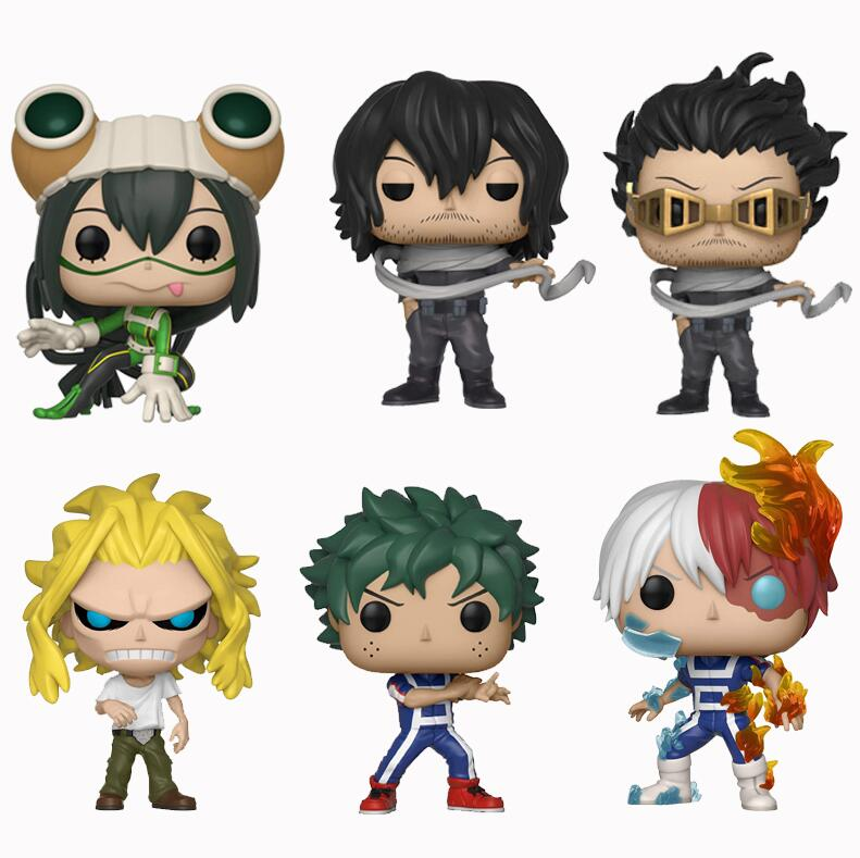 Funko Pop Anime My Hero Academia Todoroki Shoto Asui Tsuyu Vinyl All Might Action Figures Collection Model Toys For Children