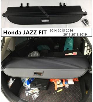 For Rear Trunk Cargo Cover Security Shield For Honda JAZZ FIT 2014 2015 2016 2017 2018 2019 High Qualit Auto Accessories Black B