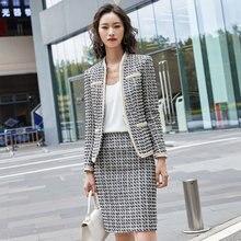 Женские деловые костюмы ol с длинным рукавом юбкой и курткой