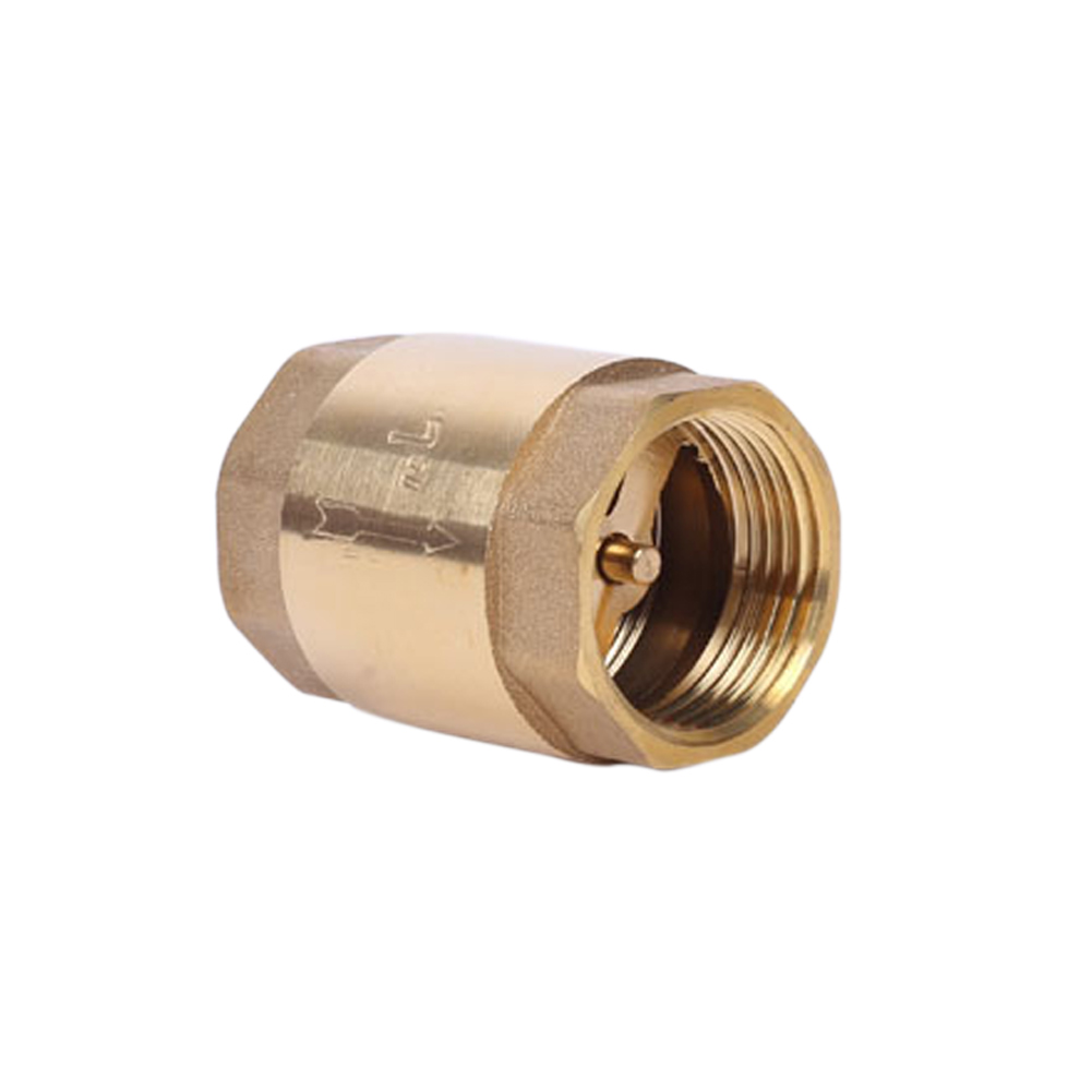 Brass In-line Spring Check Valve Thread One Way Check Valve For Liquid Gas SEP99