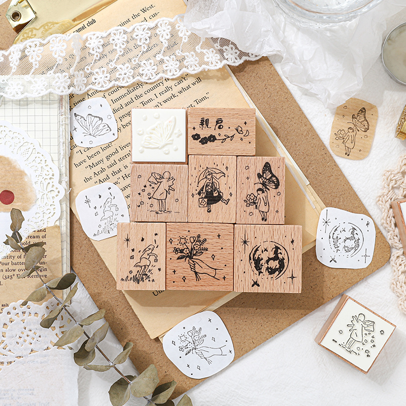 1pc Diy Wood Printing Pad For Concave Waist Color Super Large Inkpad Rubber Stamp