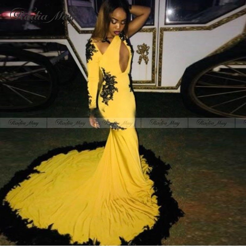 yellow prom dresses 2020