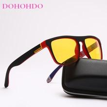 DOHOHDO – lunettes de soleil polarisées pour hommes et femmes, verres jaunes, Anti-éblouissement, pour la conduite nocturne, UV400, lunettes de soleil