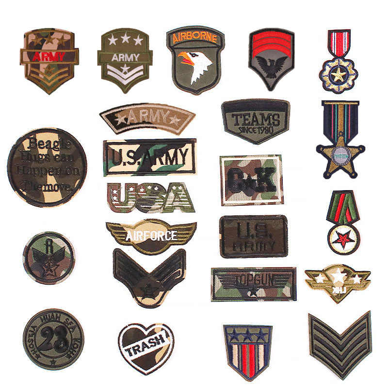 Cloth Fabric Patches Sew On Badge Military Girl Pink Embroidery Patch