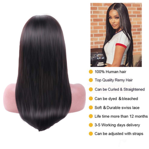 Image 4 - Mifil Human Hair Wigs Lace Frontal Wigs 13x4 Lace  Pre Plucked Glueless Natural Hairline Straight Hair Wig Wholesale Price