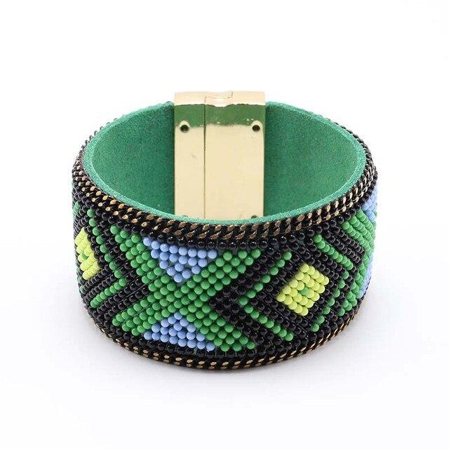Charm Leather Bracelet Boho...