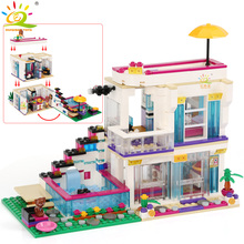 Building-Block Figures Bricks Star Girls Friend Compatible House Educational-Toys Children