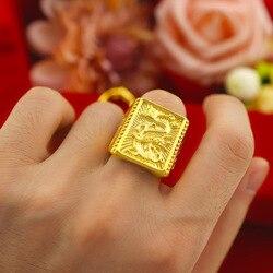 Не выцветает навсегда 14K Золотое кольцо мужское кольцо Anillos De Свадебные Bizuteria bijoux femme (украшения своими руками) Ювелирные изделия Анель драго...