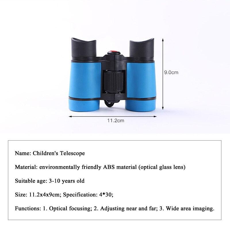 Мини 4x30 hd Детский бинокль портативный фиксированный зум телескоп