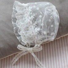 Lolita lace Spanish Princess Maid hats baby photography girls newborn kids hat bonnet gifts summer free shipping Christmas