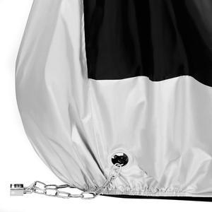 Image 3 - Silver Black 190T Dust UV Protector Sun Snow Rain Proof Waterproof Motorcycle Covers Cover Coat M L XL XXL XXXL D45