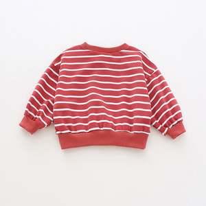 Shirt Girls Cotton Winter And Fashion Bat Loose Warm Autumn Stripes Children's