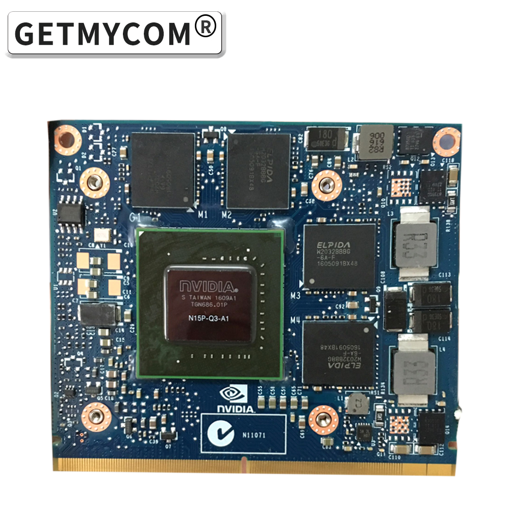 K2100M K2100 GDDR5 2GB Video Graphics Card N15P-Q3-A1 For Dell M6800 HP 8560W 8770W 8570W ZBook 15 17 G1 G2 laptop Graphics Card image