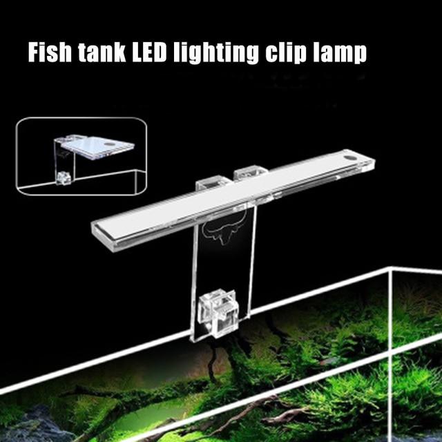 Fish & Aquatic Pet Supplies LED Aquarium Lamp Plant Light Fits Tanks 3-8MM Thickness Aquatic Lamp Aquarium Bracket Light Hot 3