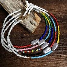Meetvii Colorful Seed Bead Pearl Choker Women Natural Beads Bib Collier Femme Bohemian Statement Vintage Collare Dropship