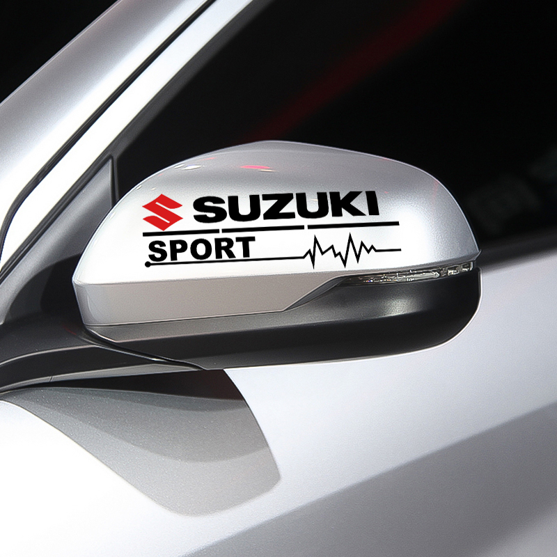 2PCS Car Rearview Mirror Stickers Decal Badge Auto Body Styling For SUZUKI Sx4 Lets 2 Bandit Escudo Djebel 250 Gsr 600 Rf 400