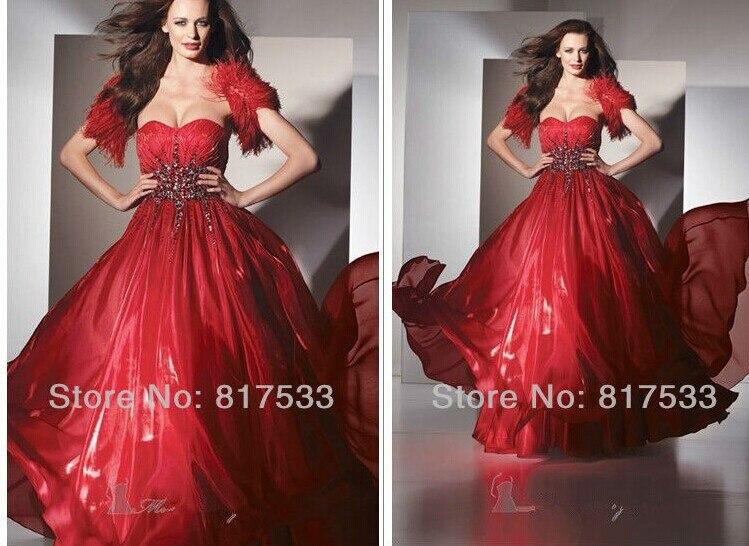 New Hot Sexy Sweetheart Vestido De Festa Vestido Longo 2016 Free Shipping Crystal Beading Evening Party Red Long Prom Dresses